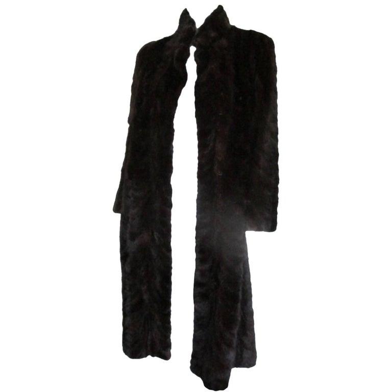 brown mink vintage fur coat
