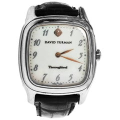 David Yurman Thoroughbred Watch with Black & Green Crocodile Strap