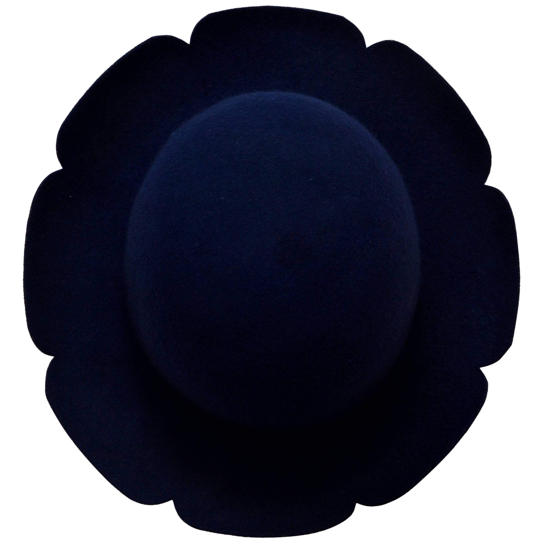 Stephen Jones For Comme Des Garcons Flower Felt Hat