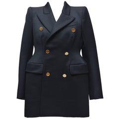Balenciaga Black Hourglass Jacket Size 38, 2016