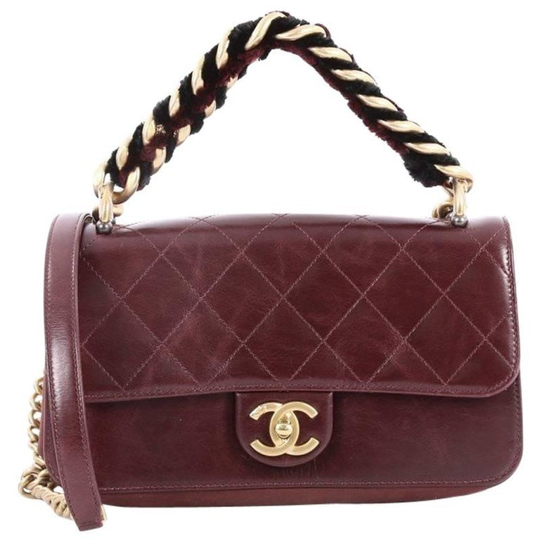 e12772573549 Chanel Paris Cosmopolite Straight Lined Flap Bag Quilted Aged Calfskin  Small For Sale