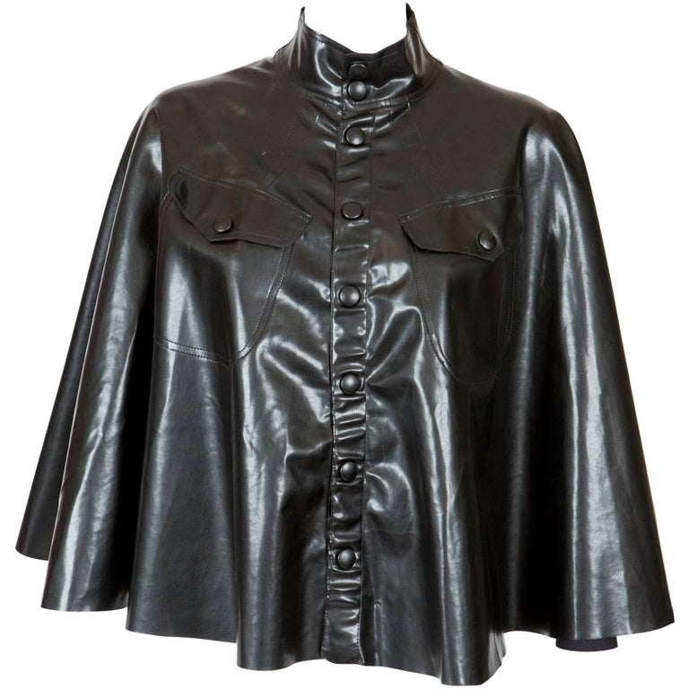Black Jean Paul Gaultier Vinyl Cape