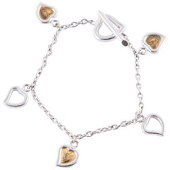 Yves Saint Laurent Hearts Charms Bracelet