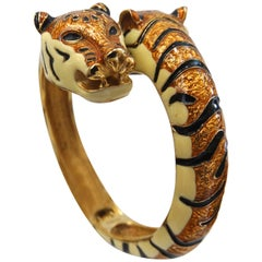 Kenneth Jay Lane Tiger Watch Bangle