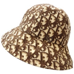 1990s Christian Dior Monogram Brown & Tan Bucket Hat