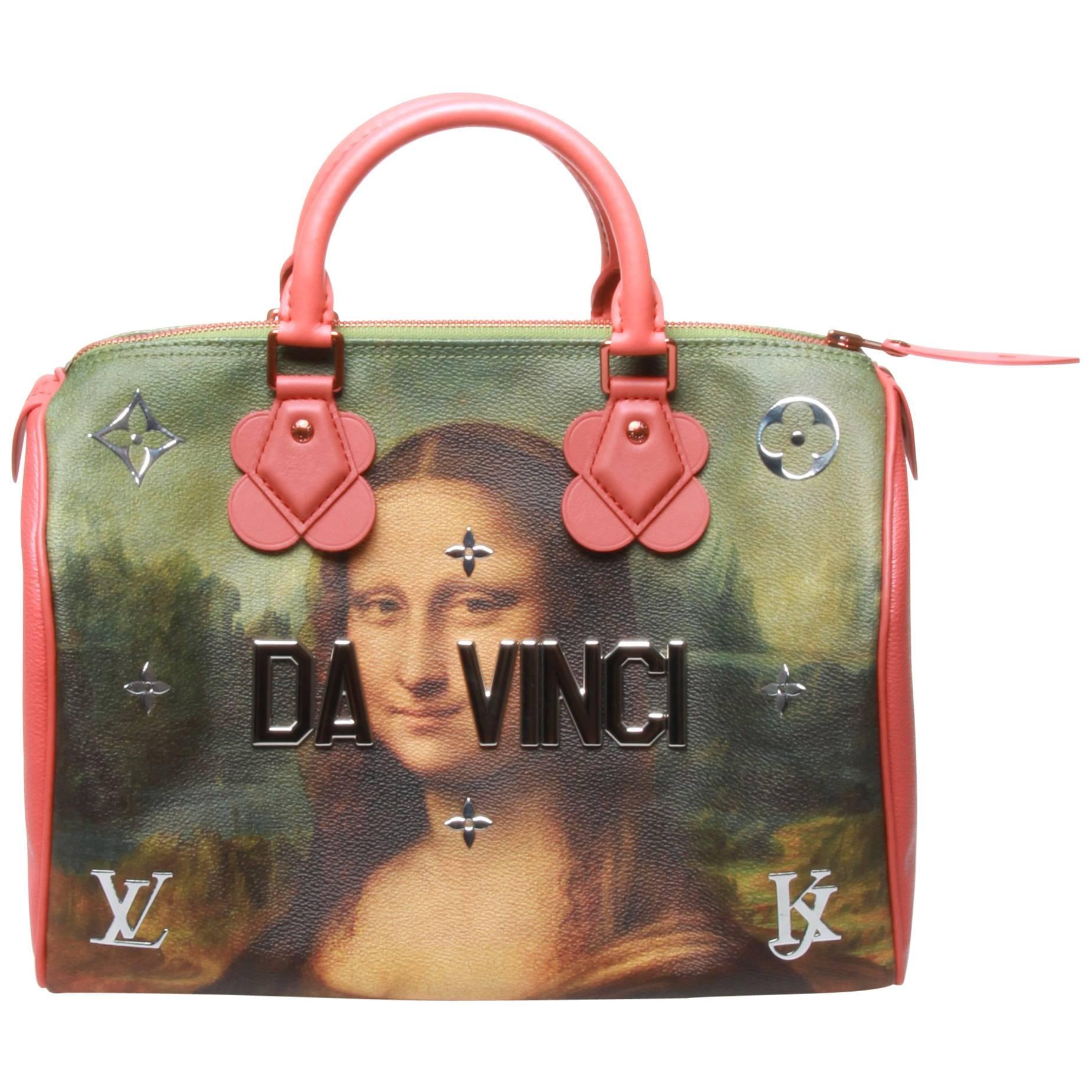 Louis Vuitton Lv X Koons Masters Da Vinci Speedy 30 Bag RzoNLakFcx