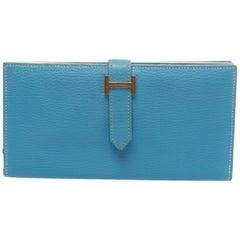 Hermès Blue Paradise Béarn Wallet