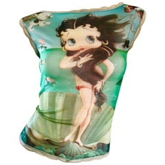 "Rare 1990s Eletra Casadei Betty Boop "" Birth of Venus "" Novelty Vintage 90s Top"