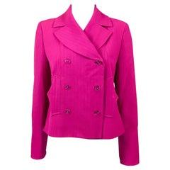 Christian Lacroix Fuchsia Wool Jacket, 1990s