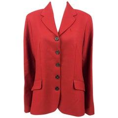 Hermes Deep Red Wool Jacket, 1990s