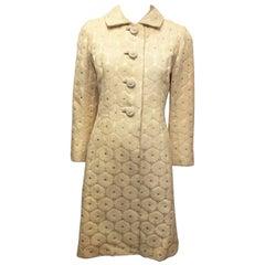Cream Floral Silk Jacket, 1960s