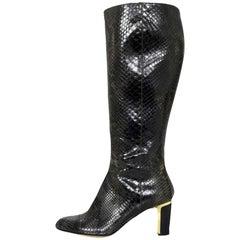 Slavatore Ferragamo Grey Python Snakeskin Boots Sz 8B