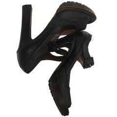 Marni Leather Open Toe Pumps Size 40