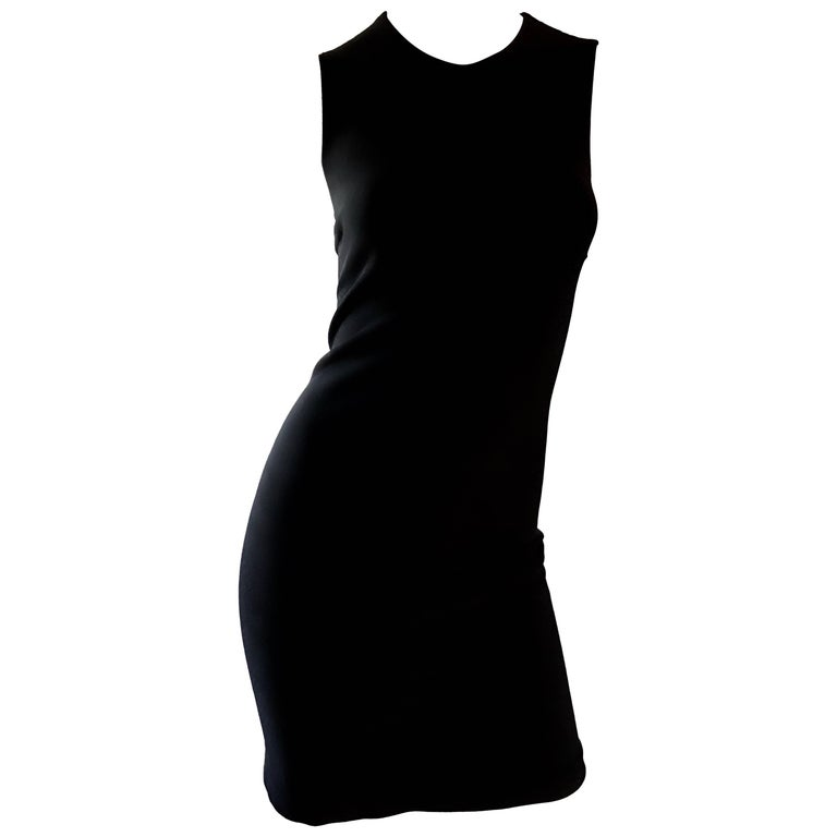 Michael Kors Collection Size 2 / 4 Black Double Face Wool Bodycon Runway Dress