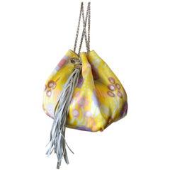 Chanel Floral Printed Tassel Bucket Bag, 2000s