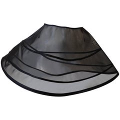 Black Mesh Cage Circle Skirt