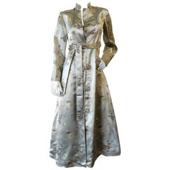 Vintage Chinese Cheongsam Inspired Satin Embroidered Coat