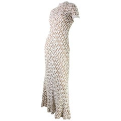 1970's Werle of Beverly Hills Crochet Maxi Dress with Shawl