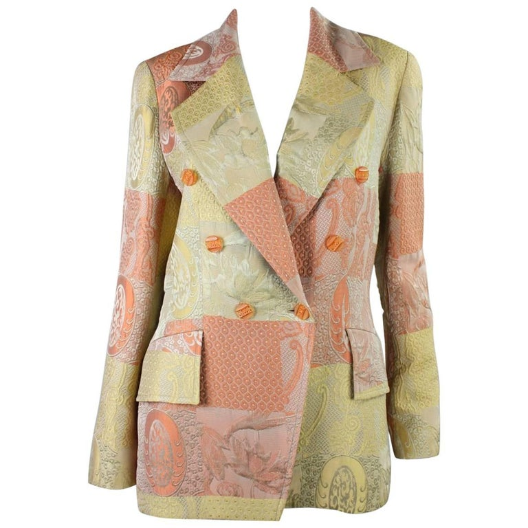1990's Christian Lacroix Jacquard Blazer For Sale