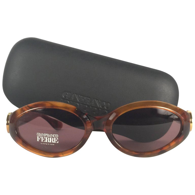 fa748e74b03 New Vintage Gianfranco Ferré Tortoise 1990 s Made in Italy Sunglasses For  Sale