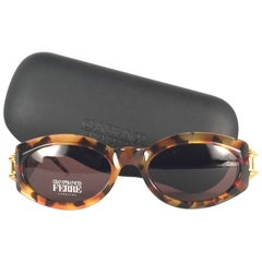 New Vintage Gianfranco Ferré Tortoise & Gold 1990's Made in Italy Sunglasses