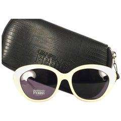 New Vintage Gianfranco Ferré Ivory & Rhinestones 1990's Made in Italy Sunglasses