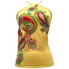 21st Century Silk Embroidered Halter Top By, Ralph Lauren