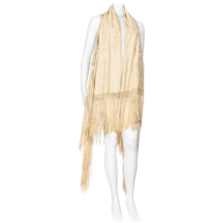 Embroidered Fringe Piano Shawl Vest Dress with Hood