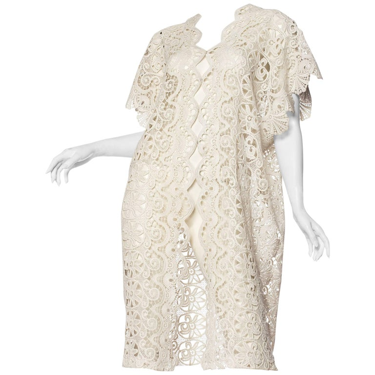 Vintage Edwardian Lace Tunic Kaftan