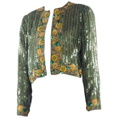 Richilene Hand Beaded Silk Jacket