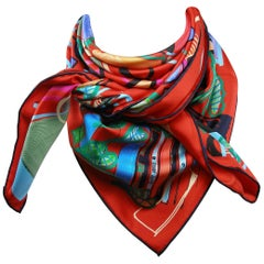 Hermès Scarf Modernisme Tropical Silk twill 90 cm / Brand New
