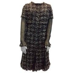 Chanel Tweed & Sheer Dress