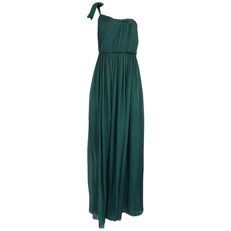 Pre-Fall 2008 Stella McCartney Silk Chiffon One Shoulder Dress