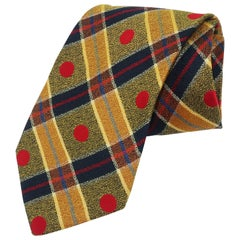1990's Ungaro Silk Plaid Men's Necktie