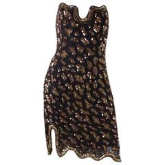 Fabrice Strapless Beaded Cocktail Dress, 1990s