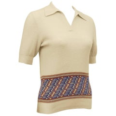 1960s Gucci Knit Polo Top