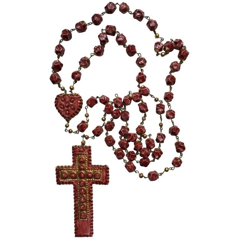 Tullio Mazzotti Ceramic Rosary Albisola