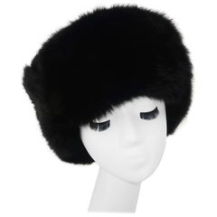 Vintage Russian Sable Fur Hat With Ear Flaps