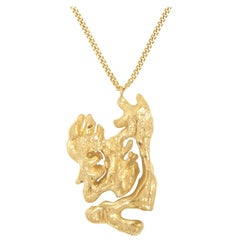 Loveness Lee Chinese Zodiac Rat Horoscope Gold Pendant Necklace