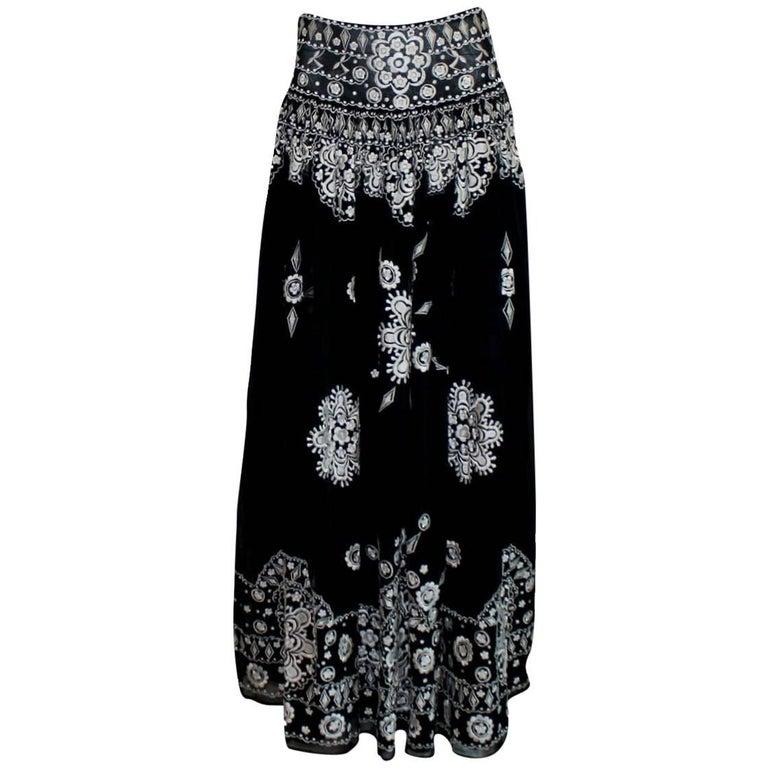 Emilio Pucci Signature Embroidered Maxi Skirt