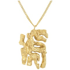 Loveness Lee Chinese Zodiac Tiger Horoscope Gold Pendant Necklace