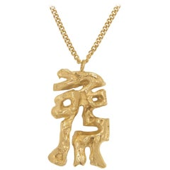 Loveness Lee Chinese Zodiac Rabbit Horoscope Gold Pendant Necklace