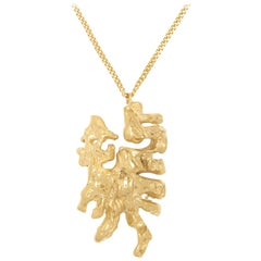 Loveness Lee Chinese Zodiac Dragon Horoscope Gold Pendant Necklace