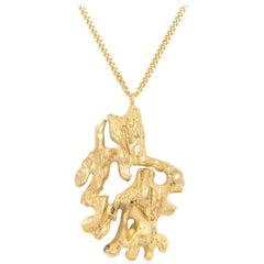 Loveness Lee Chinese Zodiac Monkey Horoscope Gold Pendant Necklace