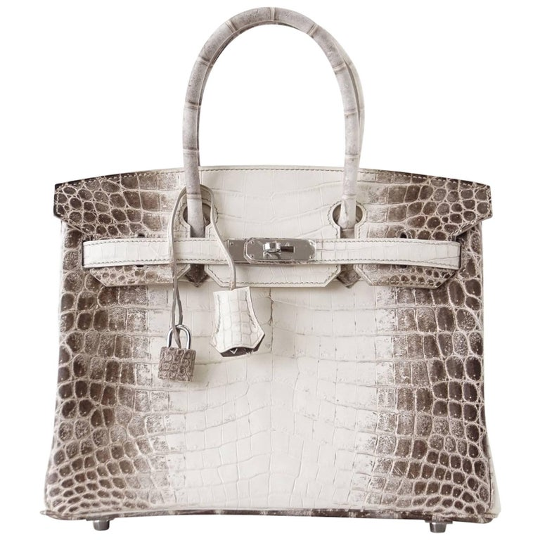 Hermes Birkin 30 Bag Exquisite Blanc Himalaya Palladium Hardware For Sale