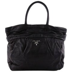 Prada Frills Tote Nappa Leather Medium