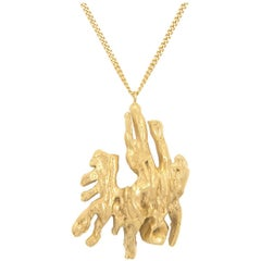 Loveness Lee Chinese Zodiac Pig Horoscope Gold Pendant Necklace