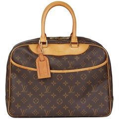 1997 Louis Vuitton Brown Monogram Coated Canvas Vintage Deauville