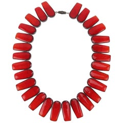1960's Brondsted Danish Art Pottery Collar Necklace
