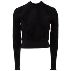 Alaia Wool Ribbed Cropped Pullover, Fall-Winter 1990-1991